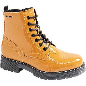 Žltá lakovaná šnurovacia obuv so zipsom Tom Tailor.