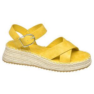 Žlté sandále na platforme Graceland