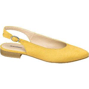 Žlté slingback baleríny Graceland