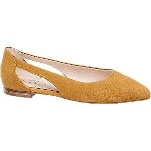 Žluté kožené baleríny 5th Avenue Soft