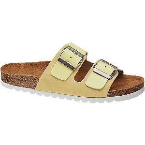 Žluté kožené pantofle Vero Moda