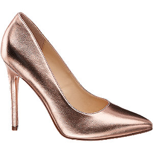metaliczne szpilki damskie Catwalk w kolorze rosegold