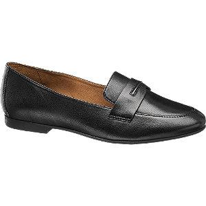 Leder Loafer in Schwarz