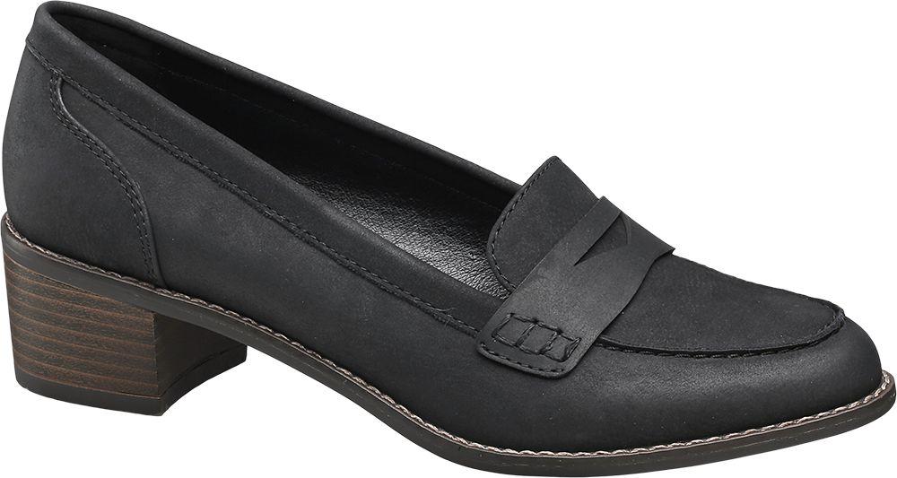 Siyah Kalın Topuklu Ayakkabı Graceland