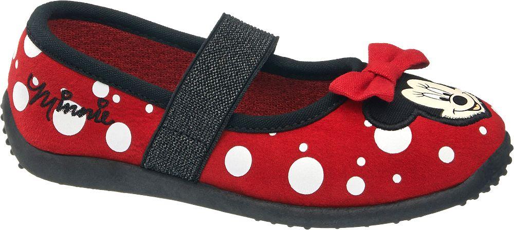 Deichmann - Minnie Mouse Domácí obuv Minnie Mouse 26 červená