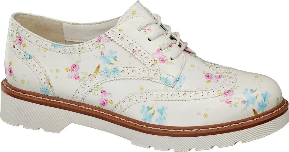 Graceland Beyaz Oxford Ayakkabı