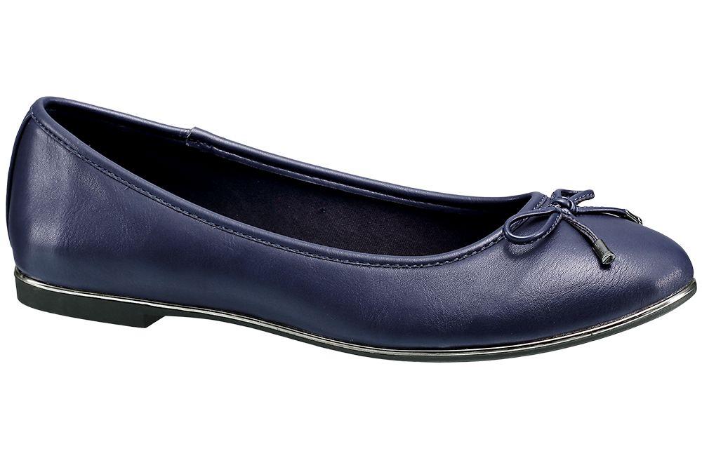 Baleriny damskie Graceland niebieskie