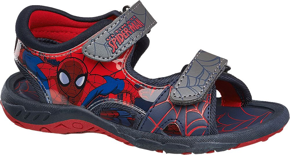 Lacivert Kırmızı Sandalet Spiderman