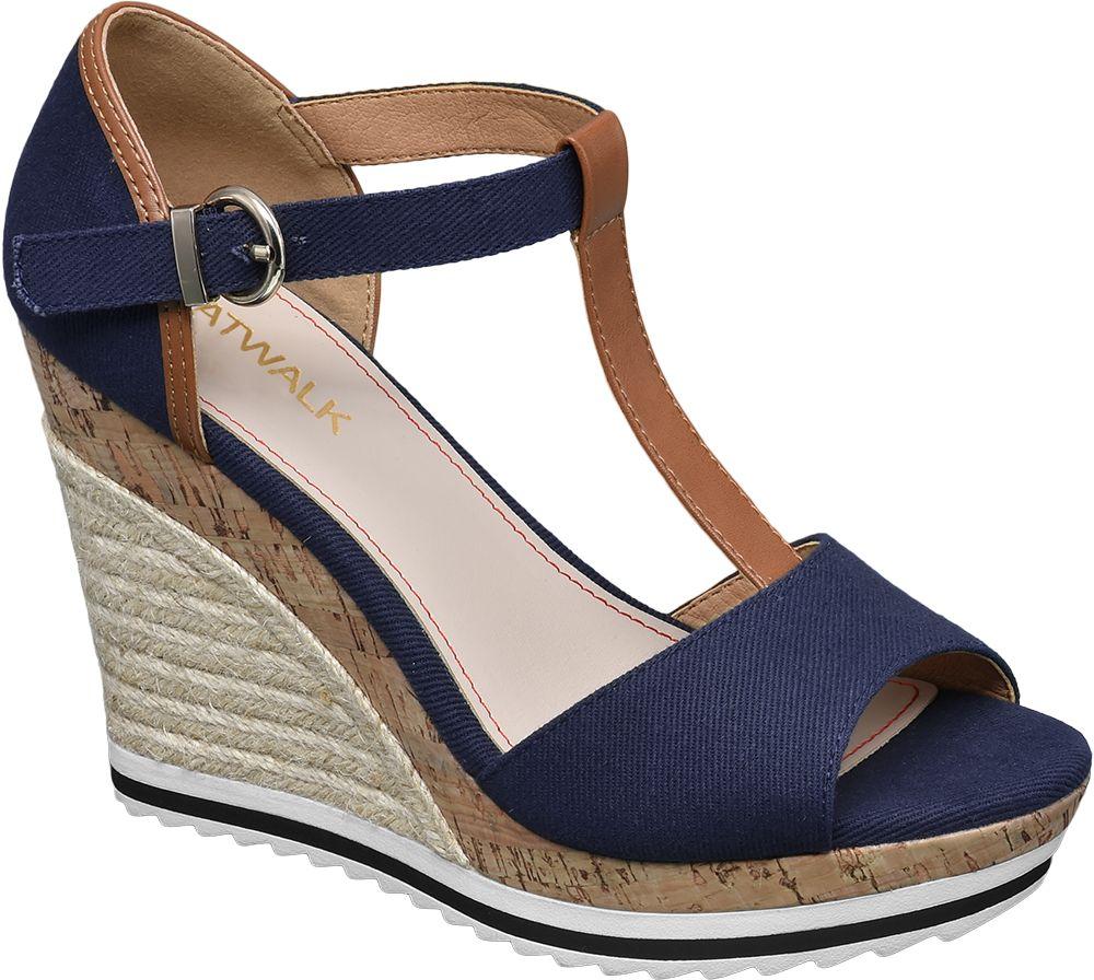 Lacivert Dolgu Topuk Ayakkabı Graceland