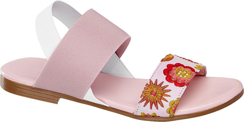 Pembe Beyaz Sandalet Graceland