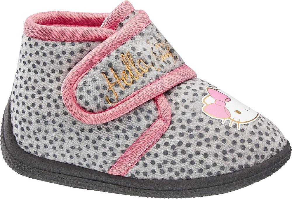 Hello Kitty Gri Pembe Ev Ayakkabısı