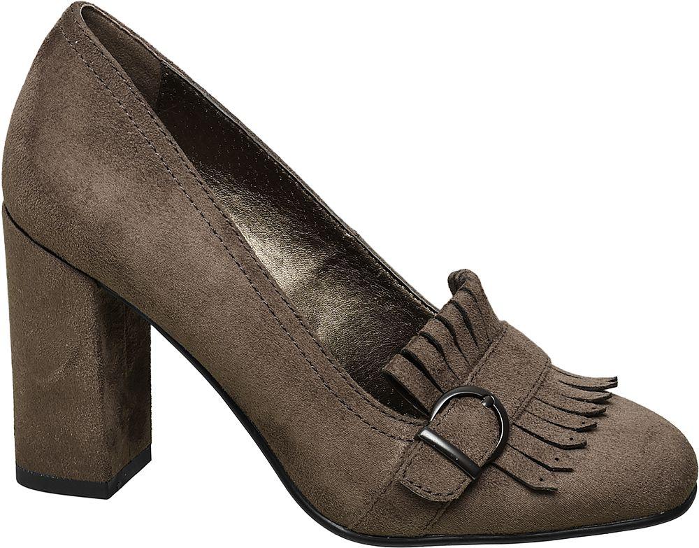 Kahverengi Kalın Topuklu Ayakkabı Graceland