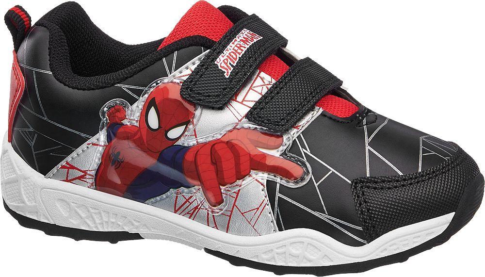 Spiderman Siyah Kırmızı Bantlı Ayakkabı