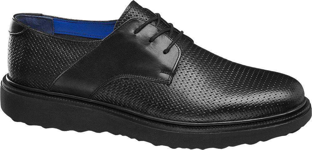 Borelli Siyah Deri Erkek Klasik Ayakkabı