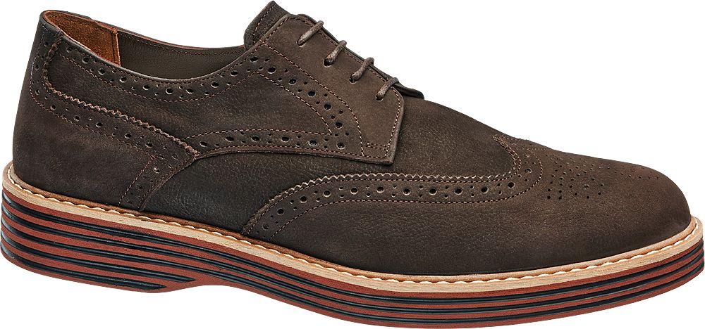 Borelli Kahverengi Deri Erkek Klasik Ayakkabı