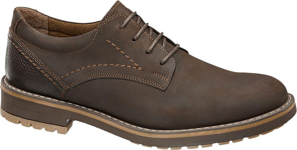 Claudio Conti Kahverengi Deri Erkek Klasik Ayakkabı