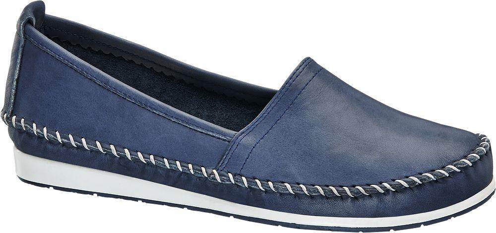 Easy Street Lacivert Deri Loafer