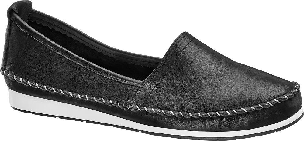 Easy Street Siyah Deri Loafer