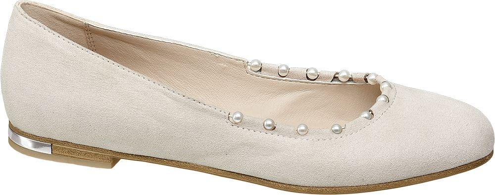 Ballerina beige con perline