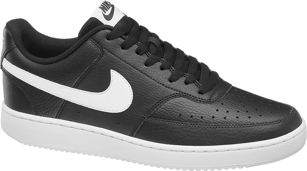 czarno-białe sneakersy męskie Nike COURT VISION