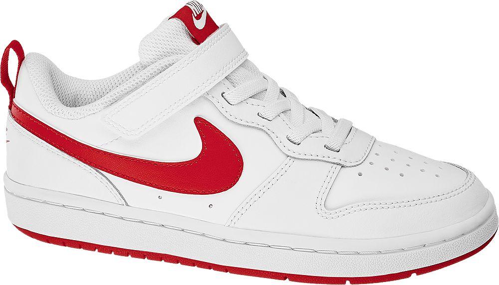 biało-czerwone sneakersy dziecięce Nike Court Borough Low