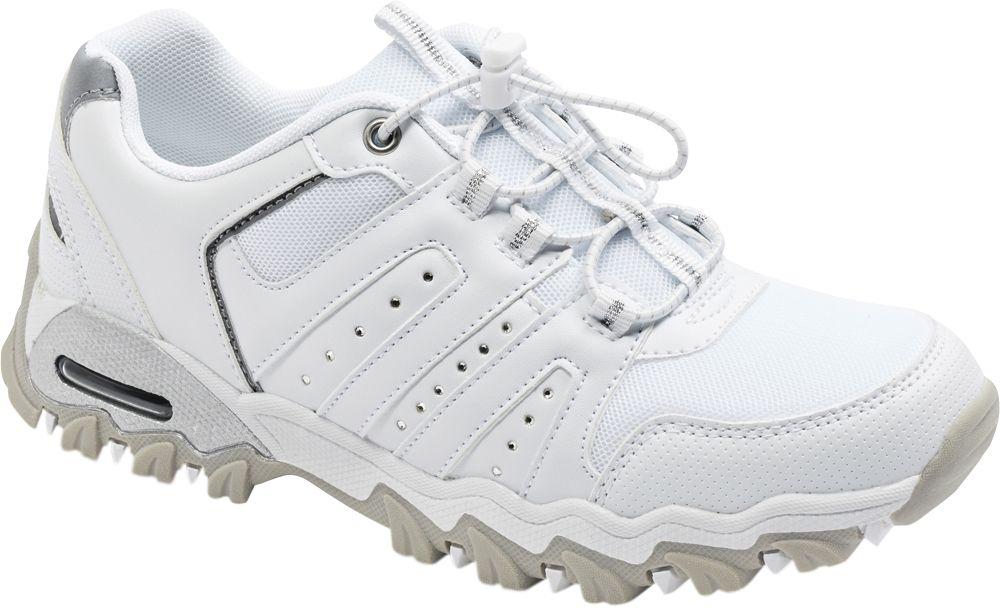 biało-szare sneakersy damskie Gracerland z elastycznymi sznurówkami