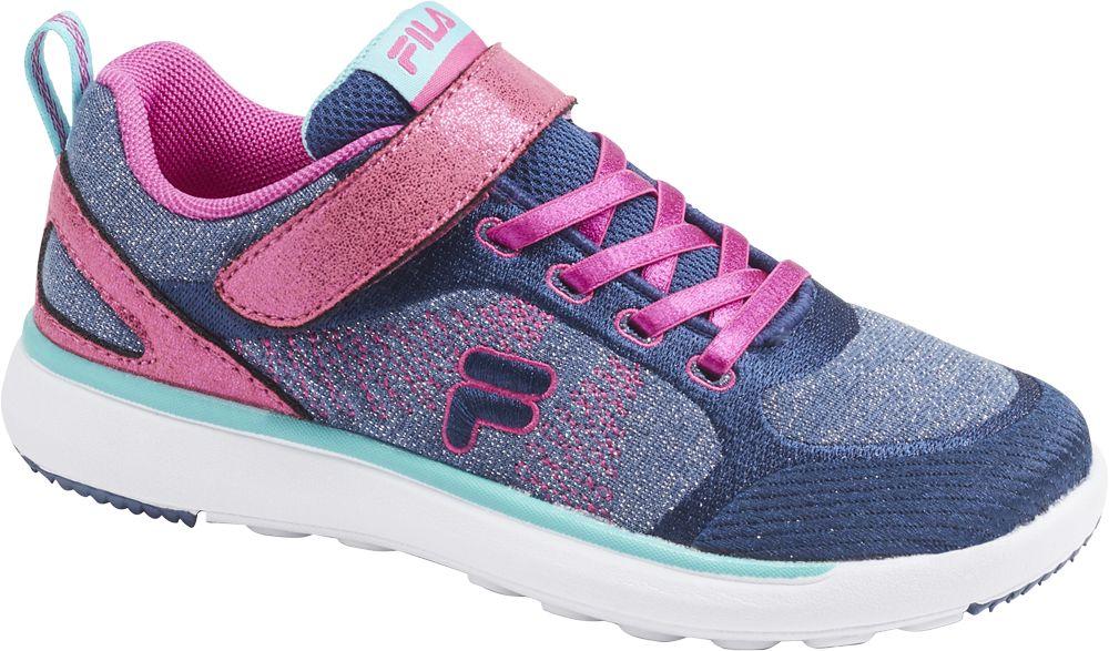 niebiesko-fioletowe sneakersy dziewczęce Fila z zapięciem na rzep
