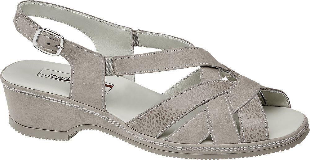 srebrne sandały damskie Medicus, tęgość G