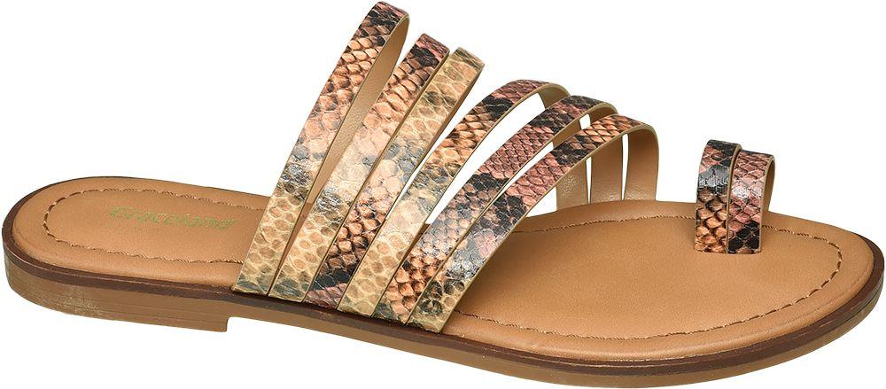modne klapki damskie Graceland wężowy wzór