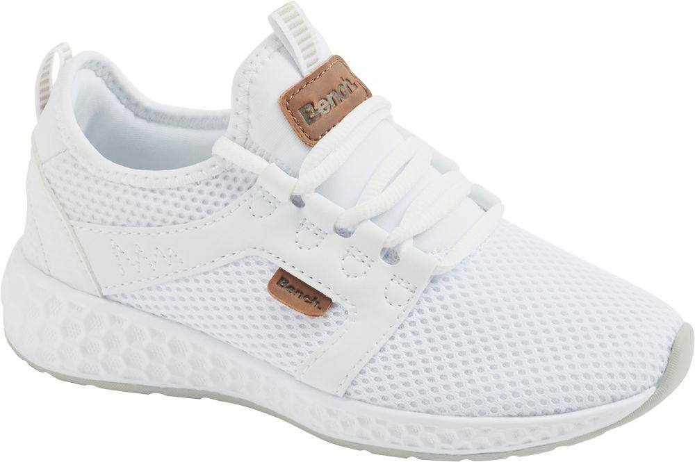 białe sneakersy dziewczęce Bench