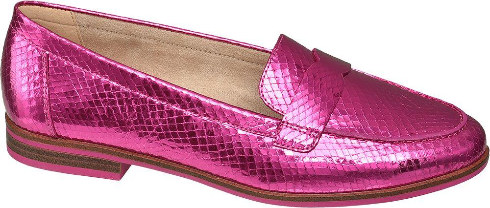 metaliczne lordsy damskie Star Collection w kolorze różowym