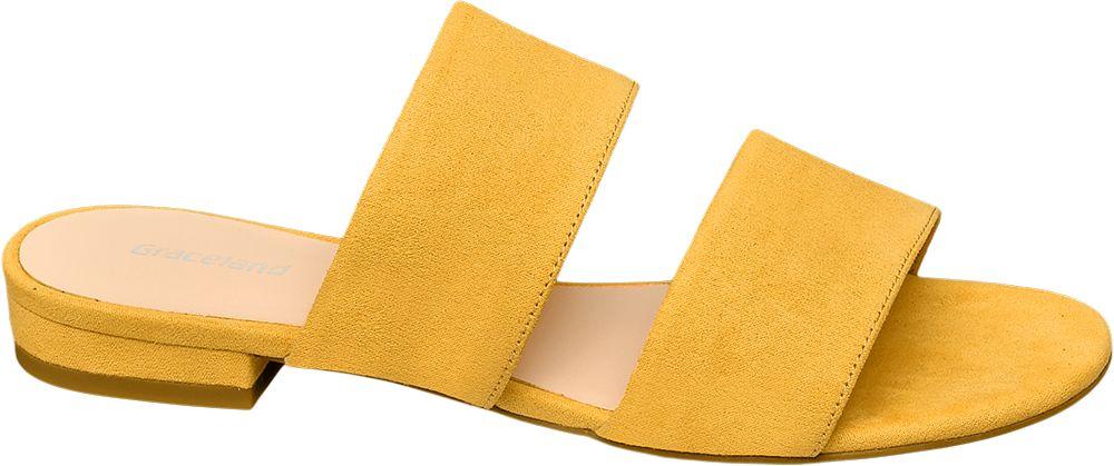 żółte klapki damskie Graceland