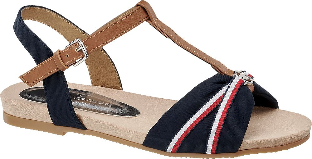 granatowo-brązowe sandały damskie Tom Taior