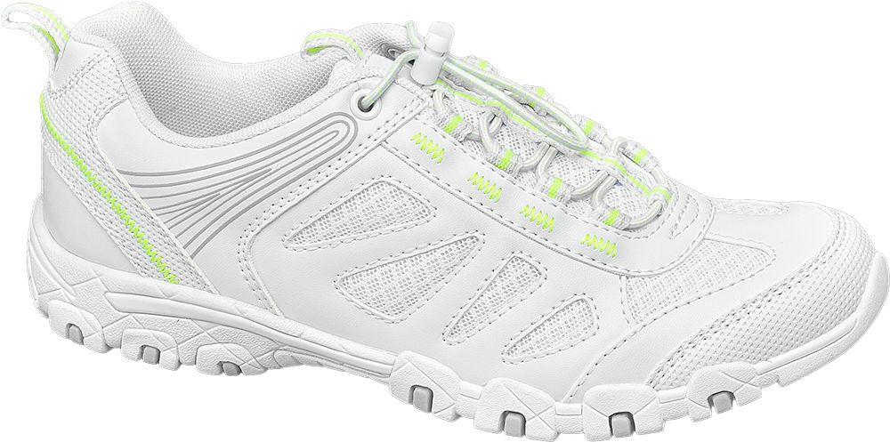białe sneakersy damskie Graceland z neonowymi elementami