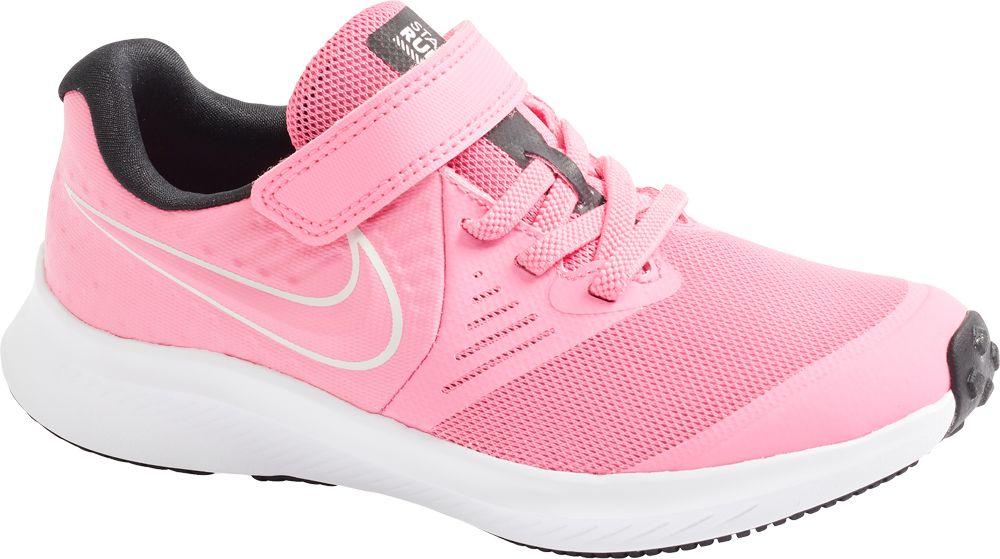 różowe sneakersy dziewczęce Nike Star Runner 2 z pojedynczym zapięciem na rzep