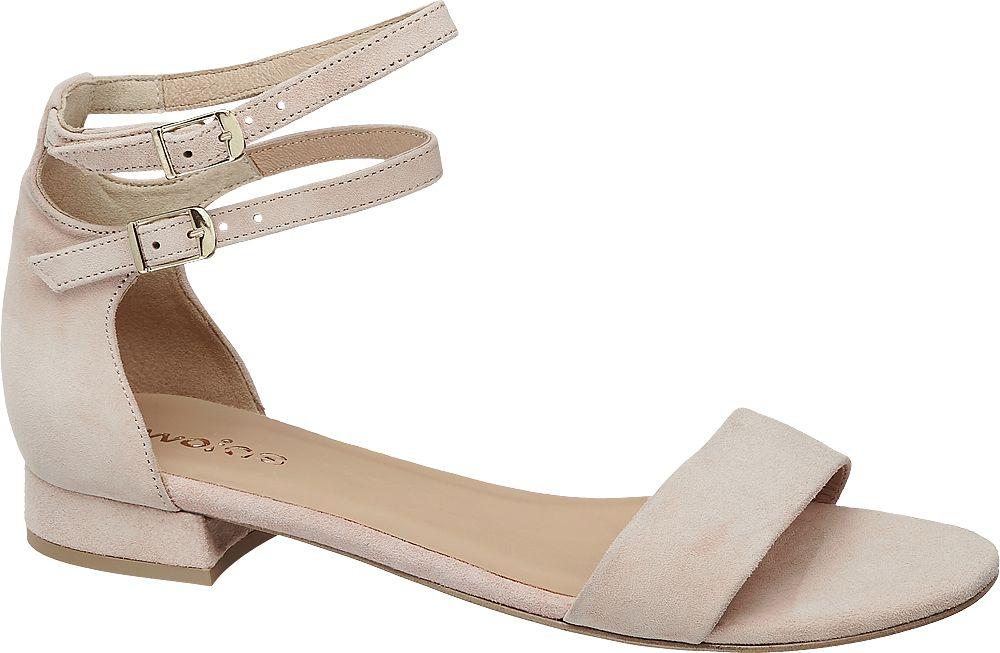 jasnoróżowe sandałki damskie Wojas