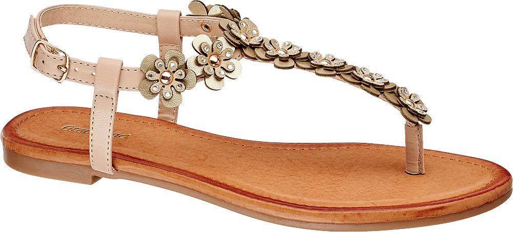 Sandały damskie Graceland złote