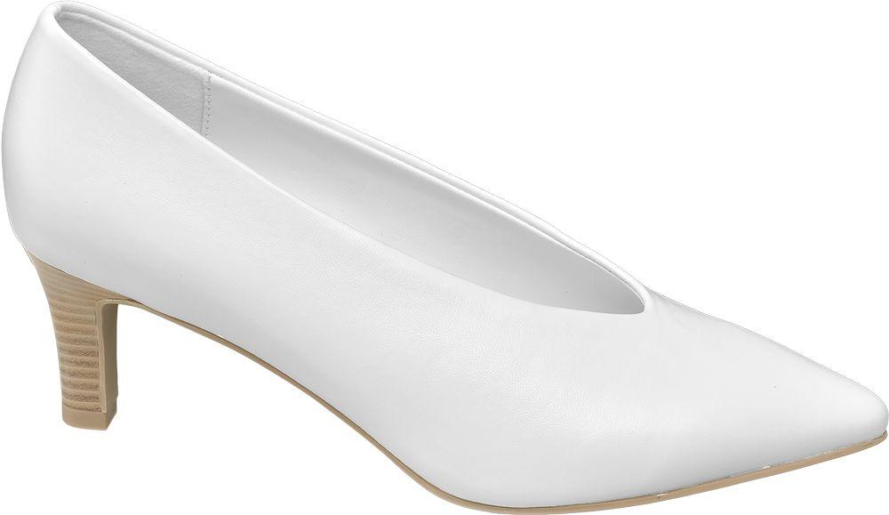 Czółenka damskie Graceland białe