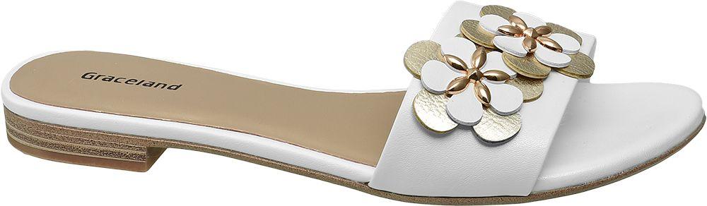 Klapki damskie Graceland białe