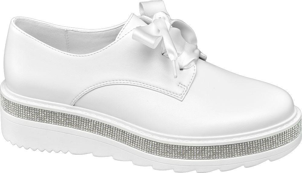 Półbuty damskie Catwalk białe