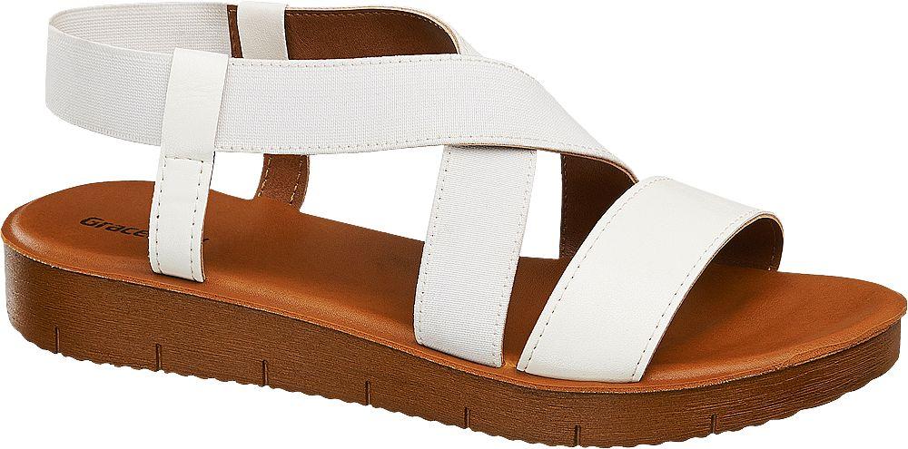Sandały damskie Graceland białe