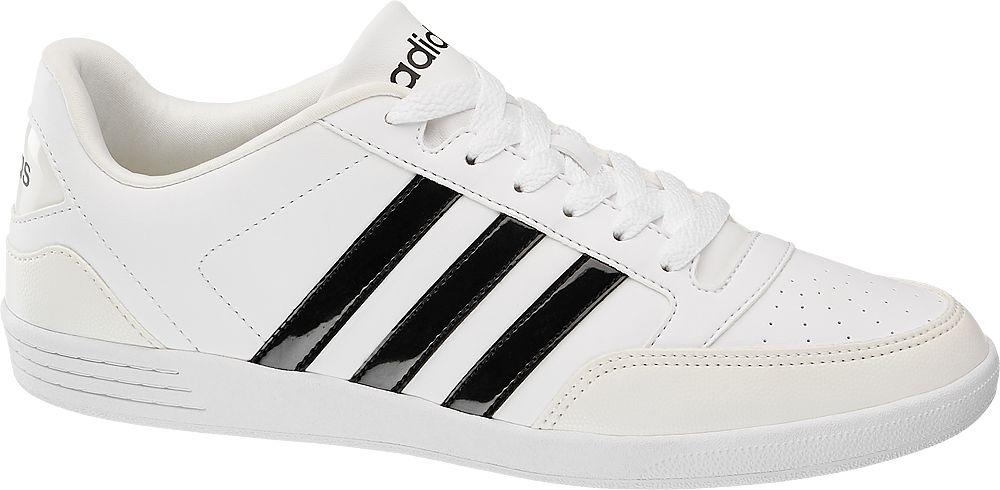 adidas - Biele tenisky Adidas VL Hoops Low