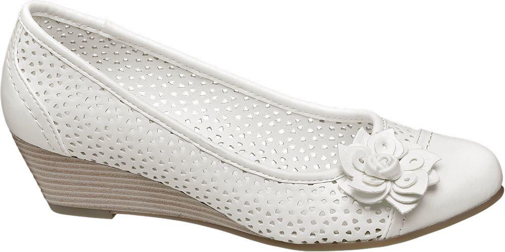 Deichmann - Graceland Bílé lodičky na klínku Graceland 38 bílá