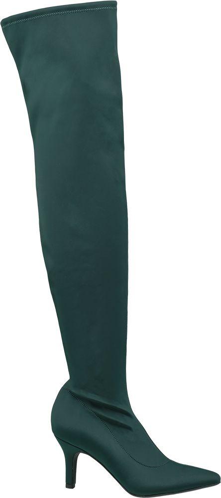 Kozaki damskie Catwalk zielone