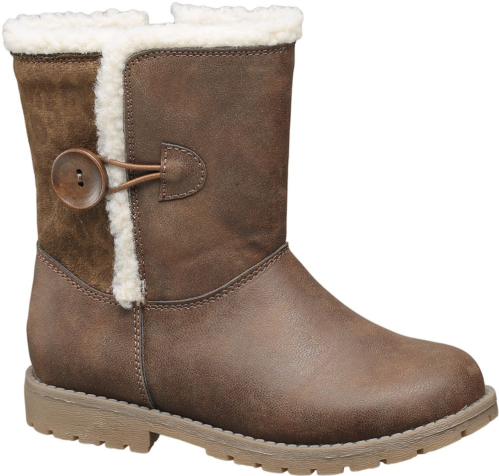 Fur & Button Boot