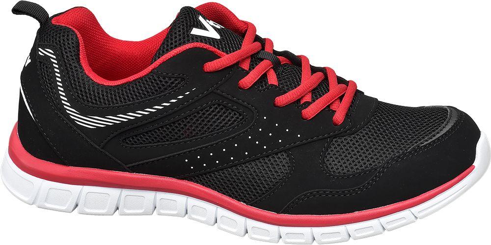czarne sneakersy męskie Vty z czerwonymi elementami