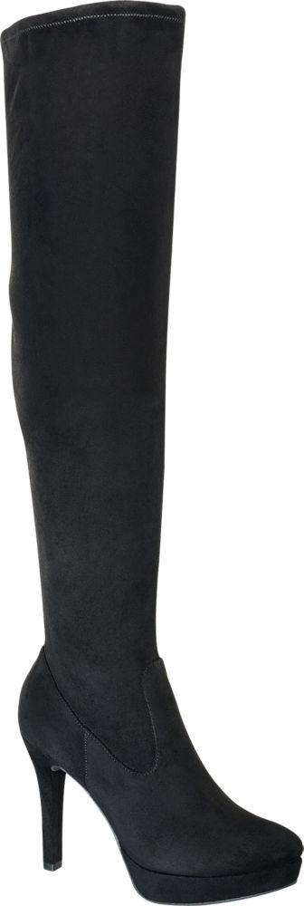 Kozaki damskie overknee Graceland czarne