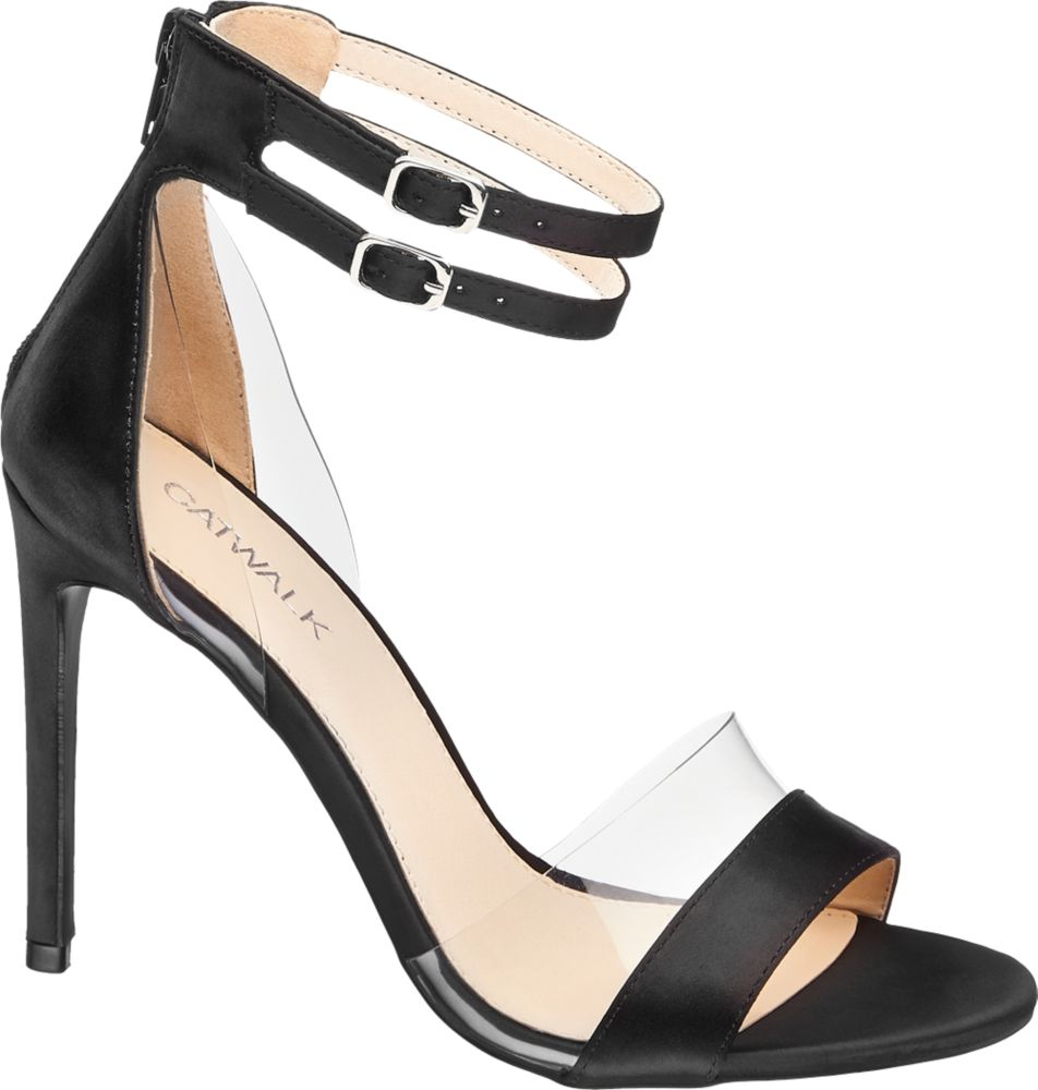 Sandałki na obcasie Catwalk czarne