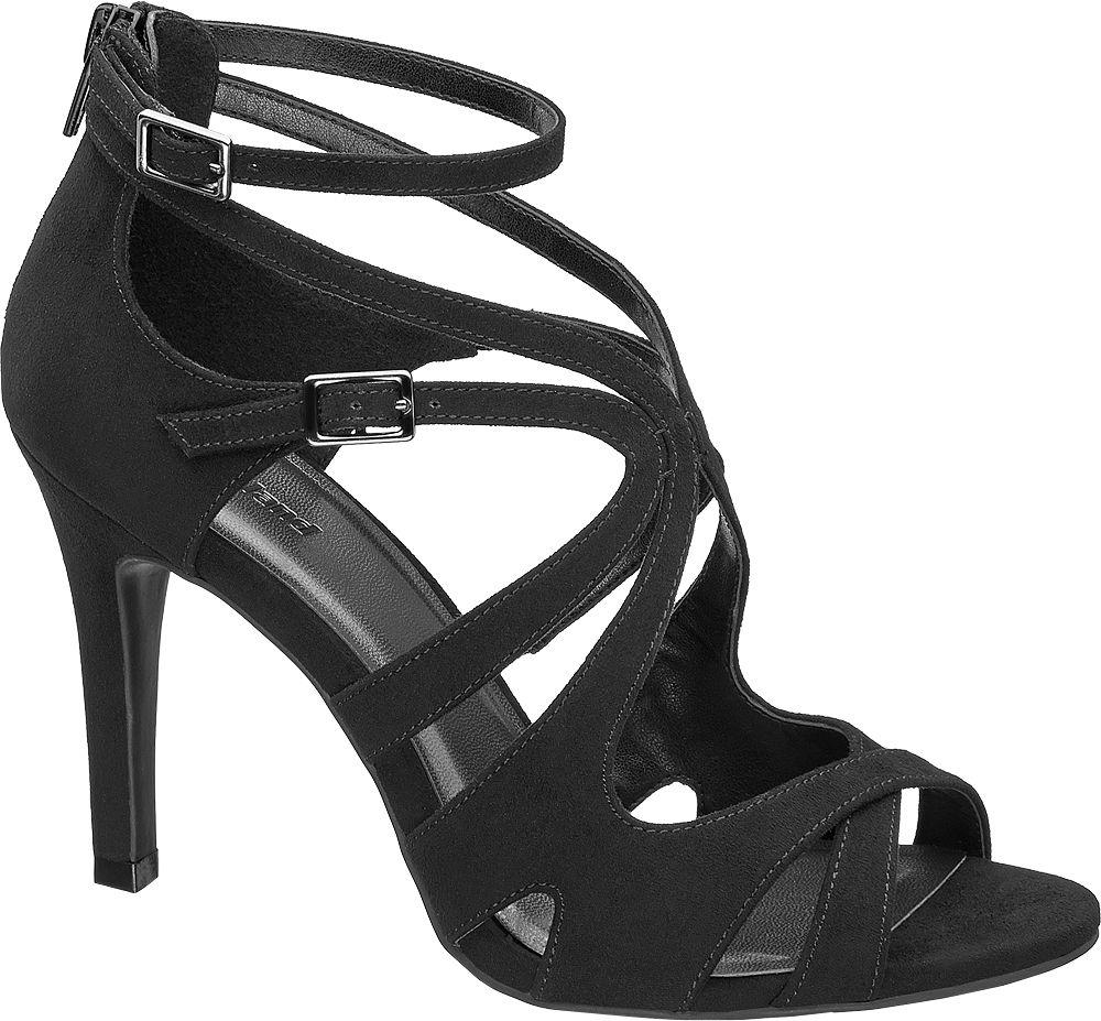Sandałki na obcasie Graceland czarne