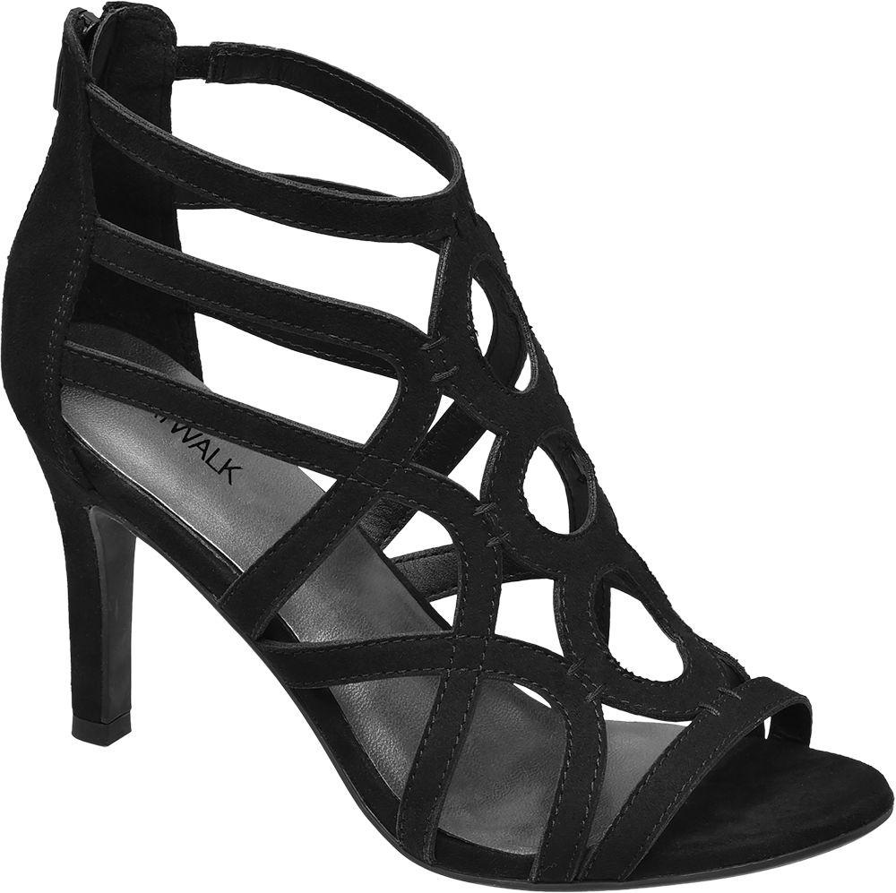 Sandalki na obcasie Catwalk czarne